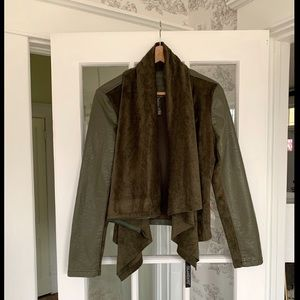 NWT Blank NYC Faux Leather and Suede Drape Jacket